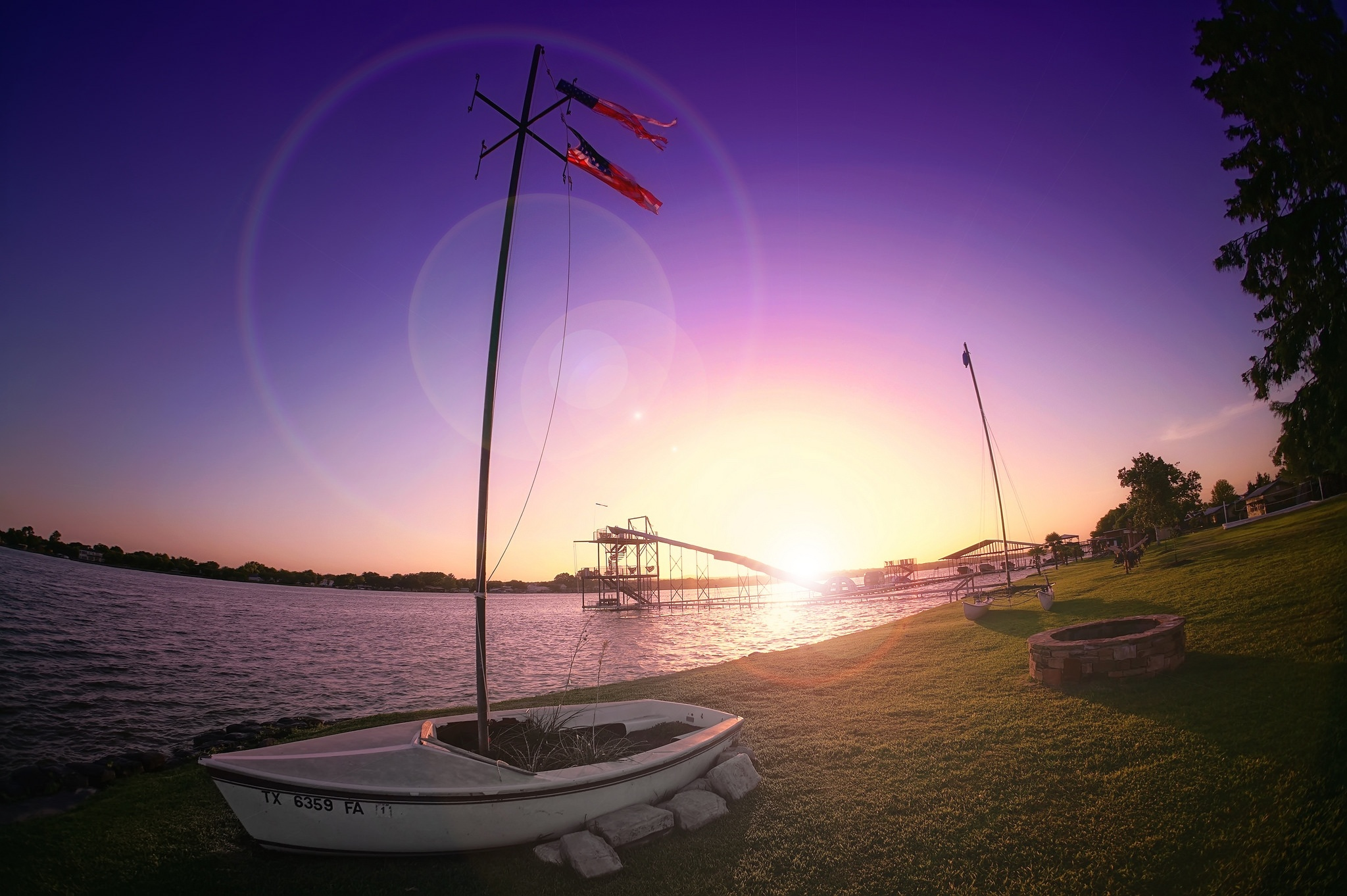 Altus sailboat garden fisheye