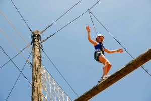 High ropes girl
