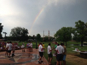 A Rainbow Greeted Us at Torchlight!